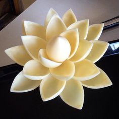 """Part of my very first chocolate showpiece attempt. Hopefully it will be pretty - but if not, it's really ok - this is so much fun! #chocolate #flower…"""