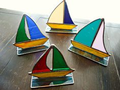 Stained Glass Ships by me at https://www.facebook.com/FaithsBizzarArt