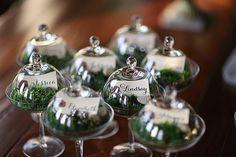 Casando em um jardim | Detalhe musgo na decor