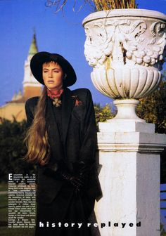 KIRSTY LAY & CONNIE NIELSON Fashion Quarterly Winter Preview 1986
