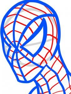 how to draw spiderman easy step 6