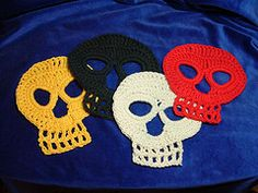 Could join these and make a skull scarf (Jessie). 3866995910_6bd25134fd_n