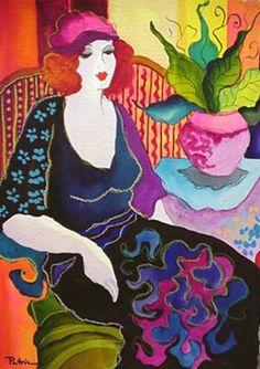 Lady in Lilac 2007 by Patricia Govezensky
