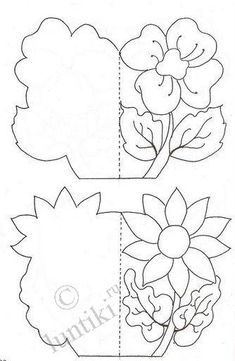 Поделки для детей - распечатай и раскрась открытку