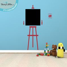 Art Easel - Chalkboard - Vinyl Wall Decal