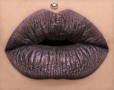 Midnight Dark Grey Metallic Purple Liquid by BeautyUndead on Etsy