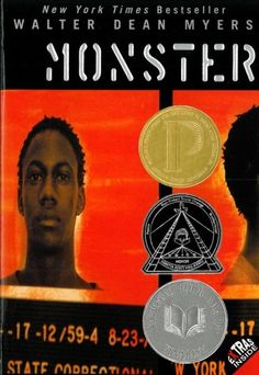 Monster--written in the format of a screen play by the young protagonist, this book portrays the harsh life of a young man on trial for the murder of a drugstore owner.