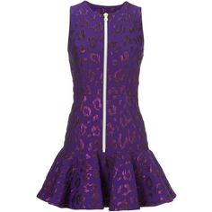 8144d02bc457 House Of Holland leopard pattern peplum dress ($600) ❤ liked on Polyvore  featuring dresses, leopard peplum dress, leopard print dress, purple leopard  dress ...