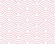 NAMI Japanese traditional background pattern wave Japan Vector