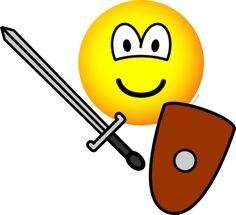 Sword fighting emoticon