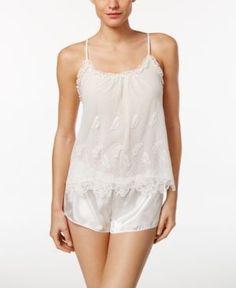 Flora Nikrooz Ophelia Embroidered Cami and Shorts Pajama Set - Ivory Cream Pajama  Shorts 217addd53
