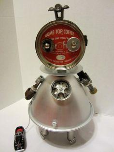 Rosie Bot found object robot sculpture assemblage by ckudja, $125.00