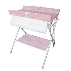 Product Image for Baby Diego Standard Bath Tub & Changer Combo in Pink 1 out of 2