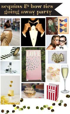 mint love social club: {sequins & bow ties themed going away party}