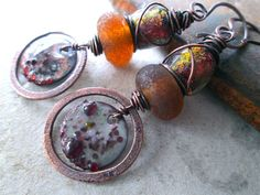 GRACE UNDER FIRE Urban Primitive Dangle by MangledMuttStudios