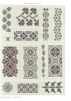 Ukrainian cross stitch pattern 1881