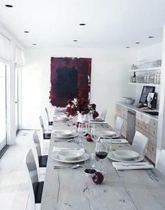 all white + rustic, modern, organic