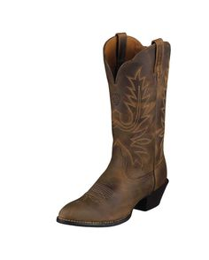 Ariat Women s Heritage Western R Toe Boot - Distressed Brown Brown Cowgirl  Boots d2291f22f