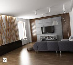 Aranżacje wnętrz - Salon: Drewno, cegła i beton w wersji minimalistycznej - innout. Przeglądaj, dodawaj i zapisuj najlepsze zdjęcia, pomysły i inspiracje designerskie. W bazie mamy już prawie milion fotografii!