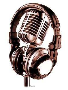 microphone tattoo designs | Headphones and Mic by ~ZzyxZ-91 on deviantART