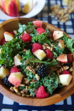 5-Minute Kale Fruit Salad-The Almond Eater