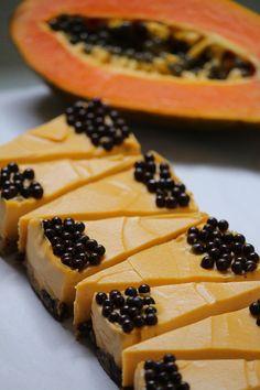 tumeric & papaya vegan cake