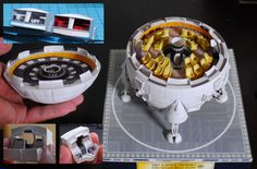 Japanese craftsman creates perfect sci-fi ship replicas using just paper  2001 a Space Odyssey Aries