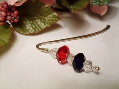 Decorate your Books  Red White and Blue by RomanticThoughts, $7.50, #RomanticThoughts.etsy.com, #bookmark