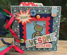 Scrapbook Mini Album Kit or Premade Boy Theme Pre by ArtsyAlbums