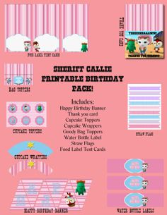 Sheriff Callie's Wild West Birthday Printable Pack