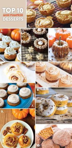 Top 10 Mini Pumpkin Desserts! Pizzazzerie.com