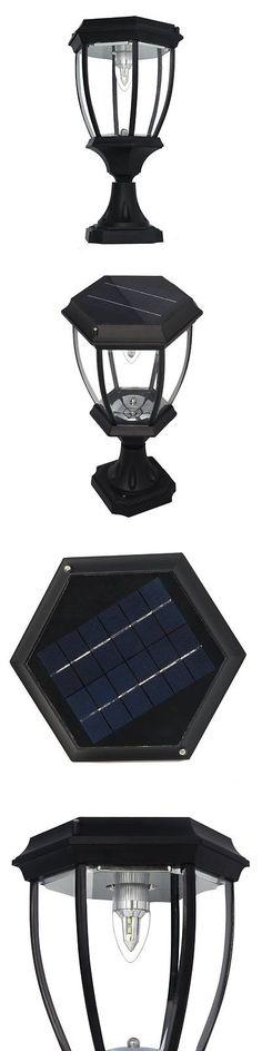 Farm And Garden: Large Elegant Outdoor Solar Powered Led Garden Yard Pillar  Light Lamp Sl8405