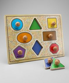 Love Melissa & Doug and I love this puzzle. A personal fav of my own kids. Take a look at this Shapes Knob Puzzle by Melissa & Doug on #zulily today!
