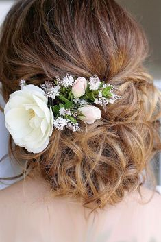 30 Pinterest Wedding Hairstyles For Your Unforgettable Wedding ❤ pinterest wedding hairstyles updo with white flower belles and brides ❤ See more: http://www.weddingforward.com/pinterest-wedding-hairstyles/ #weddingforward #wedding #bride #pinteresthairstyles