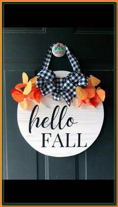 Fall Wood Signs, Christmas Signs Wood, Diy Wood Signs, Fall Decor Signs, Halloween Wood Signs, Fall Signs, Diy Christmas, Fall Crafts, Holiday Crafts