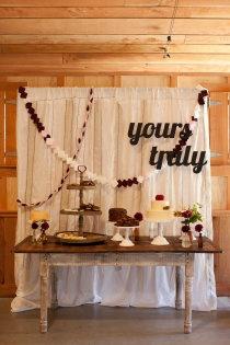 Los Gatos Wedding at Radonich Ranch by One True Love Vintage Rentals + Lili Durkin Photographer Rustic Buffet, Vintage Sweets, Desert Table, Next Wedding, Dream Wedding, Diy Garland, Garlands, Bride Book, Baby Shower