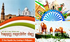 25 Beautiful Happy Republic Day Wishes and Wallpapers. Read full article: http://webneel.com/happy-republic-day-wishes-wallpapers | more http://webneel.com/diwali-greeting-cards | Follow us www.pinterest.com/webneel