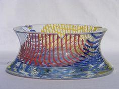 Bohemian glass ashtray