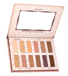 It's the easy way to get big, beautiful eyes! This warm-neutral eye shadow palette features 12 shades of silky-soft powder eye shadow in 3 finishes: matte, shimmer and satin. Signature Tips & Tricks show you how to go from Naturally Beautiful Eyes to Big Benefit Cosmetics, Benefit Makeup, Makeup Cosmetics, Gorgeous Eyes, Pretty Eyes, Big And Beautiful, Naturally Beautiful, Neutral Eyeshadow Palette, Eye Palette