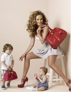 Working Mothers who balance their busy schedules, for their children who they love and care for dearly. Photo of JLO & Twins