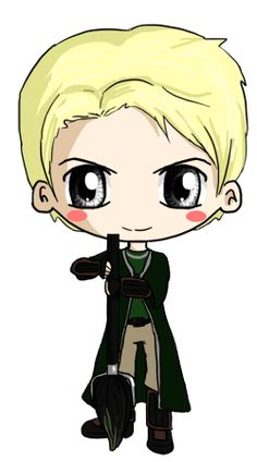 Draco Malfoy Chibi by IcyPanther1.deviantart.com on @deviantART