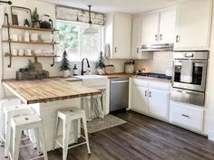 Home Renovation Kitchen 30 Awesome Bohemian Kitchen Ideas To Inspire You Ikea Kitchen, Home Decor Kitchen, Kitchen Interior, Home Kitchens, Open Cabinets In Kitchen, Bohemian Kitchen Decor, Kitchen Cupboard, Kitchen Tables, Small Kitchens