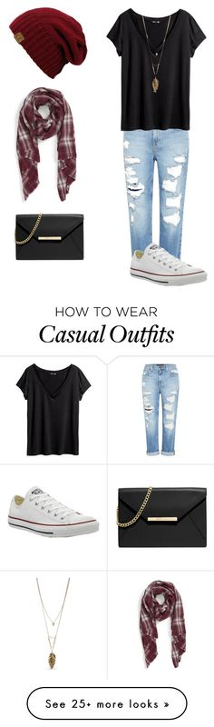 """Casual"" by cgulotta3 on Polyvore featuring Genetic Denim, H&M, MICHAEL Michael Kors, Converse, Sole Society and Steve Madden"