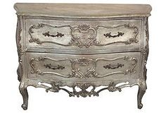 Silver-Leaf Chest of Drawers