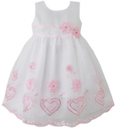 DA25 Girls Dress Pink Heart Embroidered Wedding Bridesmaid Child Clothes Size 9-10 Sunny Fashion,http://www.amazon.com/dp/B00C80IS7C/ref=cm_sw_r_pi_dp_MqGwsb1Y8WVQTFXJ