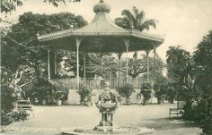 The Band Stand in Promenade Gardens, Middle Street, Georgetown, Guyana/British Guiana, in the year 1924 (photo courtesy of Andrew Jeffrey)