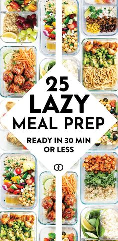 Recipes Breakfast Meal Prep These 25 meal prep ideas for the week are healthy and super easy to make for beginners! AMAZING recipe ideas ready in 30 minutes or less! So good to prep for breakfast, lunch, and dinner! Easy Healthy Meal Prep, Easy Healthy Recipes, Lunch Recipes, Healthy Snacks, Easy Meals, Recipes Dinner, Drink Recipes, Health Recipes, Good Meals