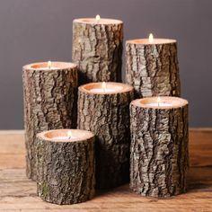 Doğal ahşap mumluklar evinize mum kadar sıcak bir hava katar. Ahşabın doğallığını ateşin dinlendirici etkisi ile buluşturmayı sen de istemez misin? #WoodDrop #ahşap #wood #mumluk #ahşapmumluk #kütük mumluk