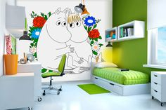 The work of illustrator Tove Jansson is celebrated with these Moomins wall murals by Photowall. It really is timeless imagery too, with the Scandinavian