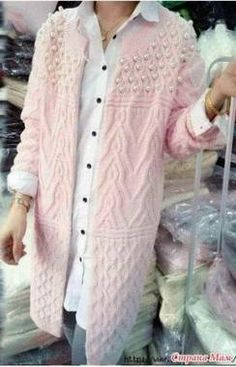 Long Sweater Coat, Long Cardigan, Long Sweaters, Sweaters For Women, Crochet Cardigan, Knit Crochet, Knitted Coat, Knit Fashion, Pulls